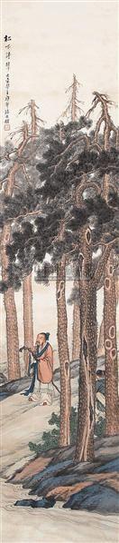 山水人物 立轴 设色纸本 - 133219 - 中国书画 - 2006秋季书画艺术品拍卖会 -收藏网
