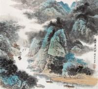 嘉陵暮泊 立轴 设色纸本 - 陶一清 - 中国书画 - 第9期中国艺术品拍卖会 -中国收藏网