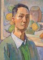 觉上自画像 布面  油画 - 闵希文 - 华人西画 - 2006年度大型经典艺术品拍卖会 -收藏网