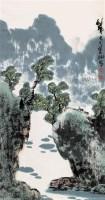 山水 立轴 设色纸本 - 117920 - 中国书画 - 第9期中国艺术品拍卖会 -收藏网