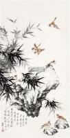 群雀图 立轴 设色纸本 - 孙菊生 - 中国书画(二) - 2010年秋季艺术品拍卖会 -收藏网