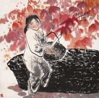 王有政 1989年作 山花烂漫图 片 设色纸本 - 王有政 - 中国油画·当代名家书画 - 2006艺术品拍卖会 -中国收藏网