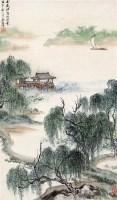江南风景 立轴 设色纸本 -  - 近现代书画 - 2006夏季书画艺术品拍卖会 -中国收藏网
