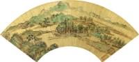 青绿山水 扇面 纸本 - 仇英 - 扇面小品 - 2010秋季艺术品拍卖会 -收藏网