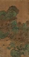 山水 立轴 设色绢本 - 文嘉 - 中国书画专场 - 2010年秋季艺术品拍卖会 -收藏网