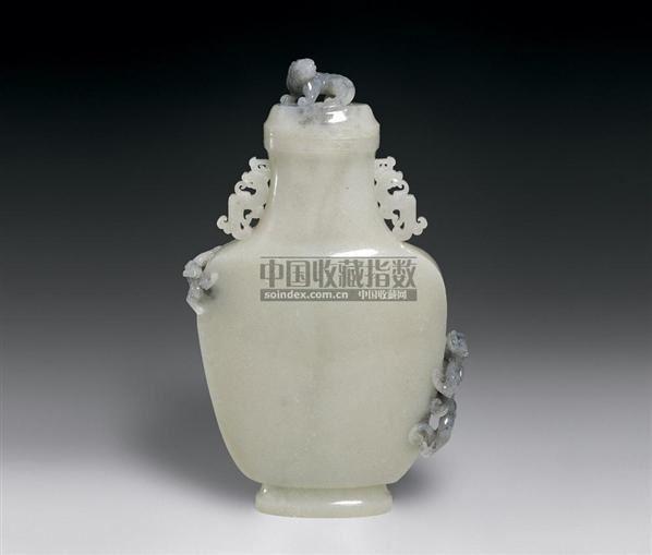 黑白玉盘螭双耳瓶 -  - 中国古代工艺美术 - 2006年度大型经典艺术品拍卖会 -收藏网
