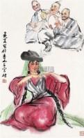 载乐图 立轴 纸本设色 - 7693 - 中国书画(二) - 2010年秋季艺术品拍卖会 -收藏网