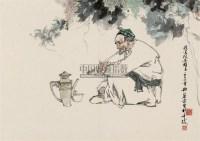 新疆人物 镜框 设色纸本 - 119562 - 中国书画二·名家小品及书法专场 - 2010秋季艺术品拍卖会 -收藏网