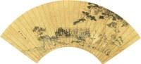 人物 扇面 纸本 - 仇英 - 扇面小品 - 2010秋季艺术品拍卖会 -收藏网