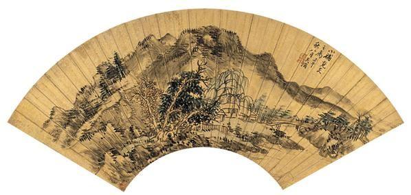 吴  滔(1840~1895)  山水 -  - 中国书画金笺扇面 - 2005年首届大型拍卖会 -收藏网