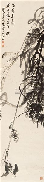 花卉 立轴 水墨纸本 - 7123 - 中国书画专场 - 2010年秋季艺术品拍卖会 -收藏网