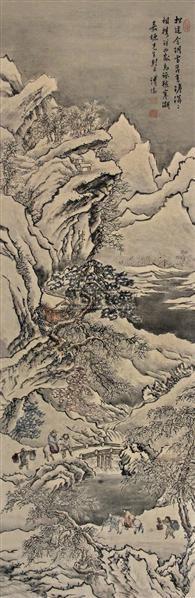 山水人物 镜片 纸本 - 1518 - 中国书画(下) - 2010瑞秋艺术品拍卖会 -收藏网