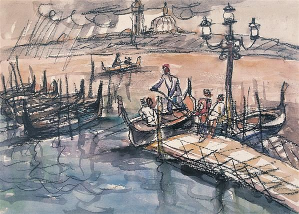 罗中立 2001年作 威尼斯 - 119145 - 西画雕塑(下) - 2006夏季大型艺术品拍卖会 -收藏网