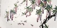 娄师白 紫藤鸭趣 硬片 - 娄师白 - 中国书画、油画 - 2006艺术精品拍卖会 -收藏网