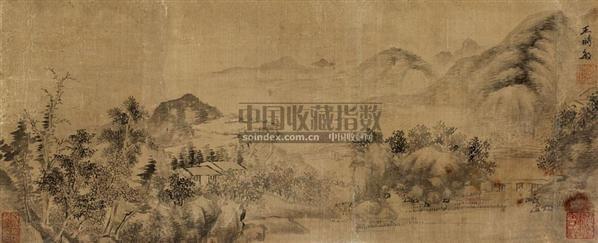 秋江帆影 镜心 水墨绢本 - 116518 - 中国古代书画  - 2010年秋季艺术品拍卖会 -收藏网