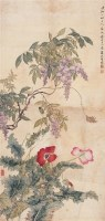 花卉 立轴 设色绢本 - 汤世澍 - 名家书画·油画专场 - 2006夏季书画艺术品拍卖会 -收藏网