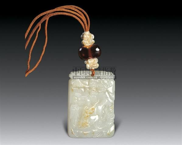 白玉文姬归汉图珮 -  - 中国古代工艺美术 - 2006年度大型经典艺术品拍卖会 -中国收藏网