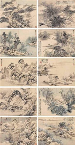 費丹旭(1802~1850)    十萬圖 (10開) -  - 中国书画古代作品 - 2006春季大型艺术品拍卖会 -收藏网