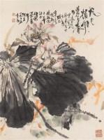荷花 镜心 设色纸本 - 4443 - 中国书画(二) - 2006春季拍卖会 -收藏网