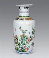 清康熙 五彩花卉小棒槌瓶 -  - 瓷器工艺品(一) - 2006年第3期嘉德四季拍卖会 -收藏网