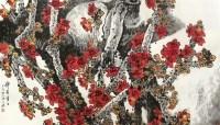 """锦簇香江 镜片 设色纸本 -  - 中国书画 - 2010""""清花岁月""""冬季大型艺术品拍卖会 -收藏网"""