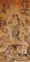 古板画不动明王像 -  - 中国书画  - 上海青莲阁第一百四十五届书画专场拍卖会 -收藏网