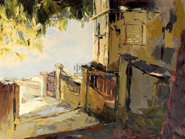 鼓浪之晨 布面  油画 - 137440 - 中国油画 - 2006春季拍卖会 -收藏网