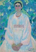 葡萄树下 纸本油画 - 141309 - 中国油画  - 2010年秋季艺术品拍卖会 -收藏网