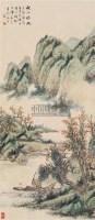 秋江晚眺 立轴 纸本 - 倪田 - 中国书画(下) - 2010瑞秋艺术品拍卖会 -收藏网