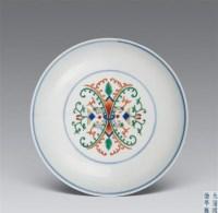 清同治 斗彩花卉盘 -  - 瓷器工艺品(一) - 2006年第3期嘉德四季拍卖会 -收藏网