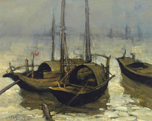 帆船 布面油画 - 117988 - 中国油画  - 2010年秋季艺术品拍卖会 -收藏网