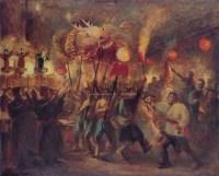 龙灯 布面  油画 - 秦宣夫 - 华人西画 - 2006年度大型经典艺术品拍卖会 -收藏网