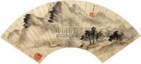 山水人物 扇面 纸本 - 董其昌 - 扇面小品 - 2010秋季艺术品拍卖会 -收藏网