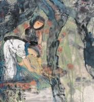 河边 镜心 设色纸本 - 145777 - 名家书画·油画专场 - 2006夏季书画艺术品拍卖会 -收藏网