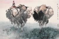 驼铃 镜心 设色纸本 - 李山 - 中国书画 - 第54期书画精品拍卖会 -收藏网