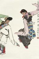 起舞 立轴 设色纸本 - 叶浅予 - 中国书画 - 2010年秋季拍卖会 -收藏网