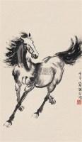 奔马图 立轴 纸本 - 徐悲鸿 - 中国书画(下) - 2010瑞秋艺术品拍卖会 -中国收藏网