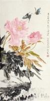 陆抑非 花卉 - 陆抑非 - 中国书画  - 上海青莲阁第一百四十五届书画专场拍卖会 -中国收藏网