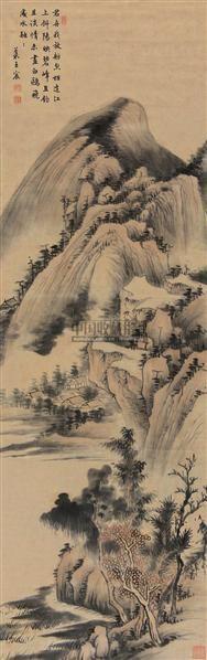山水 屏轴 纸本 - 5289 - 中国书画(下) - 2010瑞秋艺术品拍卖会 -收藏网
