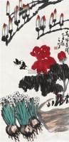 春风送暖 立轴 设色纸本 - 崔子范 - 中国书画(二) - 2010年秋季艺术品拍卖会 -收藏网