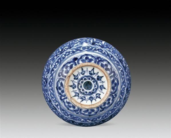 青花花卉纹水盂 -  - 瓷器 - 2010年秋季拍卖会 -收藏网