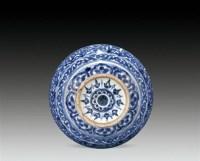 青花花卉纹水盂 -  - 瓷器 - 2010年秋季拍卖会 -中国收藏网