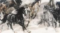 八骏图 镜心 纸本设色 - 36556 - 中国当代书画 - 2010秋季艺术品拍卖会 -收藏网