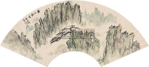 黄山松云 扇片 纸本 - 139858 - 中国书画(上) - 2010瑞秋艺术品拍卖会 -收藏网