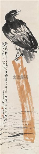 雄鹰独立 镜片 设色纸本 - 141136 - 中国书画 - 2010秋季艺术品拍卖会 -收藏网