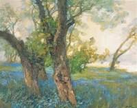 二月春来 布面 油画 - 鲍加 - 中国油画 - 第54期书画精品拍卖会 -收藏网