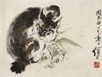 豹 镜心 设色纸本 - 刘继卣 - 中国书画 - 2010年秋季拍卖会 -收藏网
