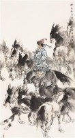 草原牧马图 镜心 设色纸本 - 刘大为 - 中国书画(一) - 2006春季拍卖会 -中国收藏网