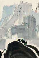 林泉飞瀑 镜框 设色绢本 - 115966 - 中国近现代书画(二) - 2010秋季艺术品拍卖会 -收藏网