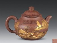 清德堂款 金彩紫砂壶 -  - 古董珍玩 - 2010秋季艺术品拍卖会 -收藏网